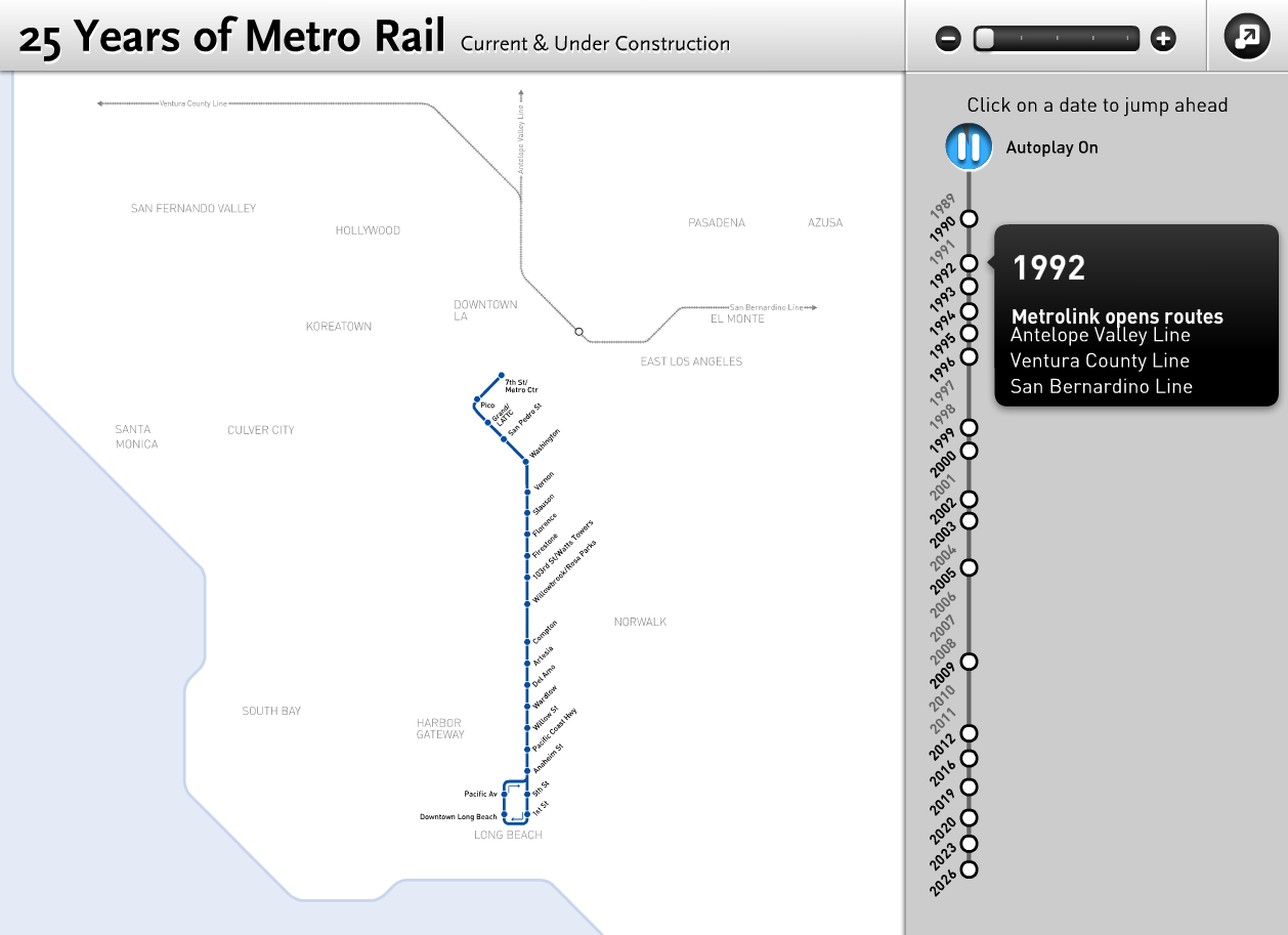 Mapping Los Angeles Metro's Projects