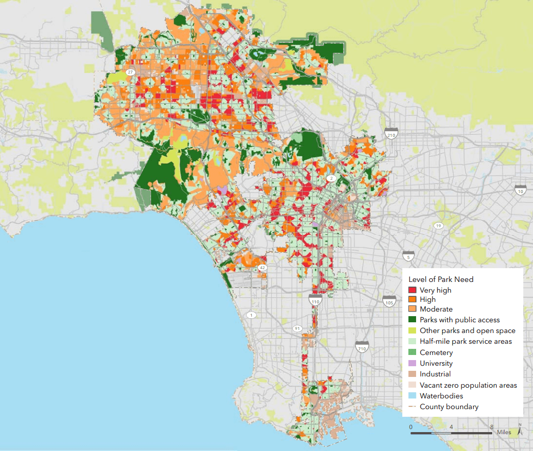 ParkScore of Los Angeles City